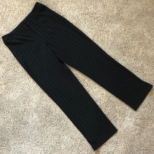 EUC Raffaella Black Pin-Striped Dress Pants, Sz 10